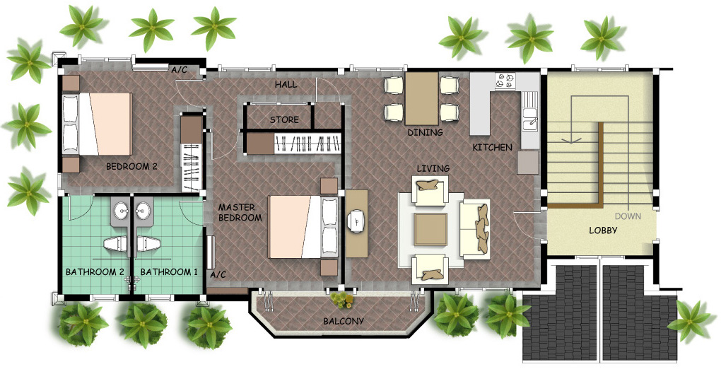 Ample 2 Bedroom Apartment for Sale in Rawai-Apartment Layout.jpg